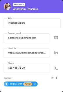 NetHunt contactos